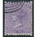 AUSTRALIA / NSW - 1897 10d violet QV, perf. 11:12, crown NSW watermark, CTO – SG # 236e