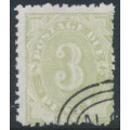 AUSTRALIA / NSW - 1893 3d green Postage Due, perf. 10:11, CTO – SG # D4a