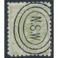AUSTRALIA / NSW - 1891 5/- green Postage Due, perf. 10:10, CTO – SG # D8