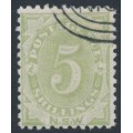 AUSTRALIA / NSW - 1891 5/- green Postage Due, perf. 11:11, CTO – SG # D8a