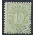 AUSTRALIA / NSW - 1891 10/- green Postage Due, perf. 10:10, CTO – SG # D9