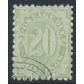 AUSTRALIA / NSW - 1891 20/- green Postage Due, perf. 10:10, CTO – SG # D10
