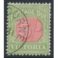 AUSTRALIA / VIC - 1895 5/- pale red/yellow-green Postage Due, CTO – SG # D20