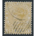 AUSTRALIA / WA - 1879 1d bistre Telegraph Stamp, perf. 12½, used – SG # T1a