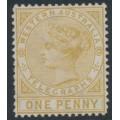 AUSTRALIA / WA - 1879 1d bistre Telegraph Stamp, perf. 14, MNG – SG # T1