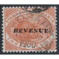 AUSTRALIA / TAS - 1900 3d chestnut Platypus, overprinted REVENUE, used – SG # F34