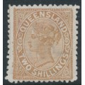 AUSTRALIA / QLD - 1889 2/- pale brown QV side-face, crown Q watermark, MNG – SG # 182
