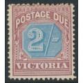 AUSTRALIA / VIC - 1890 2/- dull blue/brown-lake Postage Due, MH – SG # D9