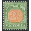 AUSTRALIA / VIC - 1895 2/- pale red/yellow-green Postage Due, MH – SG # D19