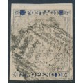 AUSTRALIA / NSW - 1851 2d ultramarine Sydney Views, plate IV, vertically laid paper, used – SG # 34