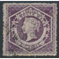 AUSTRALIA / NSW - 1866 6d purple Diadem, perf. 13:13, '12' watermark, used – SG # 165b