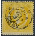 AUSTRALIA / NSW - 1862 8d bright yellow Diadem, perf. 13:13, '8' watermark, used – SG # 167c