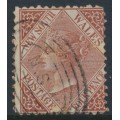 AUSTRALIA / NSW - 1871 4d red-brown QV, perf. 13:13, crown NSW watermark, used – SG # 214