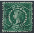 AUSTRALIA / NSW - 1884 5d bluish green Diadem, perf. 10:10, crown NSW watermark, used – SG # 215