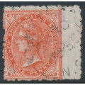AUSTRALIA / NSW - 1885 1d orange Diadem, perf. 12:10, crown NSW watermark, used – SG # 223c