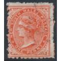 AUSTRALIA / NSW - 1885 1d orange Diadem, perf. 12:11, crown NSW watermark, used – SG # 223e