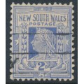 AUSTRALIA / NSW - 1910 2d milky blue QV, variety 'white scratch across SE', used – SG # 336