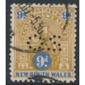 AUSTRALIA / NSW - 1905 9d brown/blue Commonwealth issue, perf. OS, used – SG # 352