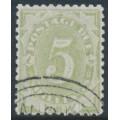 AUSTRALIA / NSW - 1891 5/- green Postage Due, perf. 11:11, CTO – SG # D8a