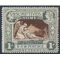 AUSTRALIA / NSW - 1897 1d (1/-) green/brown Consumptives' Home, MNH – SG # 280