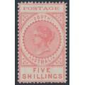 AUSTRALIA / SA - 1902 5/- reddish pink Long Tom, thin POSTAGE, MH – SG # 277