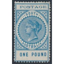 AUSTRALIA / SA - 1902 £1 blue Long Tom, thin POSTAGE, MH – SG # 279