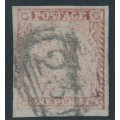 AUSTRALIA / NSW - 1850 1d brownish red Sydney Views, plate II, bluish paper, used – SG # 12