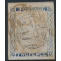 AUSTRALIA / NSW - 1850 2d ultramarine Sydney Views, plate III, used – SG # 29