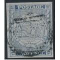 AUSTRALIA / NSW - 1851 2d ultramarine Sydney Views, plate V, used – SG # 36