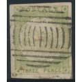 AUSTRALIA / NSW - 1850 3d yellow-green Sydney Views, soft yellowish paper, used – SG # 39