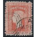AUSTRALIA / NSW - 1860 1d scarlet Diadem, perf. 12:12, '1' watermark, used – SG # 132