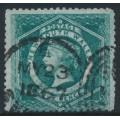 AUSTRALIA / NSW - 1866 5d sea-green Diadem, perf. 13:13, '5' watermark, used – SG # 162