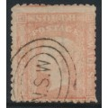 AUSTRALIA / NSW - 1864 1d pale red Diadem, perf. 13:13, single-lined '1' watermark, used – SG # 195