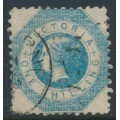AUSTRALIA / VIC - 1859 1/- blue QV in an octagon, perf. 12:12, used – SG # 81