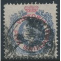 AUSTRALIA / VIC - 1880 5/- blue/carmine QV, perf. 13, sideways V crown watermark, used – SG # 140d