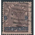 AUSTRALIA / VIC - 1871 9d on 10d blackish brown on pink Laureates, used – SG # 171a