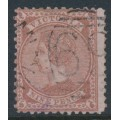 AUSTRALIA / VIC - 1873 9d pale brown/pink Diadem, perf. 12:12, '10' watermark, used – SG # 173