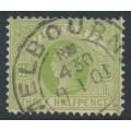AUSTRALIA / VIC - 1899 ½d emerald QV, V crown watermark, used – SG # 331