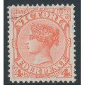 AUSTRALIA / VIC - 1897 4d red QV, V crown watermark, used – SG # 337