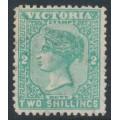 AUSTRALIA / VIC - 1897 2/- blue-green QV, V crown watermark, used – SG # 343