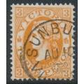 AUSTRALIA / VIC - 1903 3d yellowish brown QV, sideways V crown watermark, used – SG # 389ba