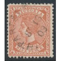 AUSTRALIA / VIC - 1905 9d brown-red QV, perf. 12½, crown A watermark, used – SG # 424