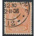 AUSTRALIA / VIC - 1906 9d orange-brown QV, perf. 12½, crown A watermark, used – SG # 424a