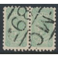 AUSTRALIA / VIC - 1912 ½d blue-green QV, perf. 11, upright A crown watermark, used – SG # 433a