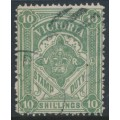 AUSTRALIA / VIC - 1886 10/- grey-green Stamp Duty, perf. 12½:12½, used – SG # 272a