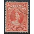 AUSTRALIA / QLD - 1882 2/6 vermilion large Chalon, first Q crown watermark, CTO – SG # 153