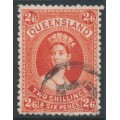 AUSTRALIA / QLD - 1886 2/6 vermilion Large Chalon, thick paper, used – SG # 158