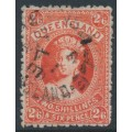 AUSTRALIA / QLD - 1895 2/6 vermilion large Chalon, second Q crown watermark, used – SG # 162