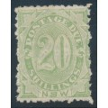 AUSTRALIA / NSW - 1900 20/- green Postage Due, perf. 12:10, MH – SG # D10b