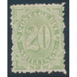 AUSTRALIA / NSW - 1900 20/- green Postage Due, perf. 12:10, MH – SG # D10b